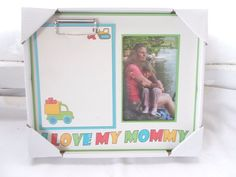 New Hallmark 4 x 6 I Love Mommy Frame & Clip Note Pad Mother's Day  #Hallmark