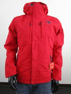 NWT Mens TNF The North Face Cinder Tri 3 in 1 Hooded Waterproof Jacket - Red 2dac5f1c7