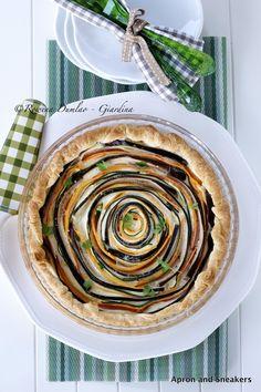 Italian Spiral Vegetable Ricotta Pie