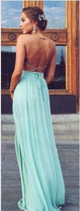 mint prom dress,backless prom dress,simple prom dress,long prom dress,cheap prom dress