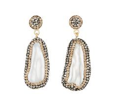 baroque pearl earrings with Swarovski multi-faceted crystals.  Might be able to replicate
