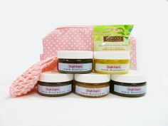 Simple Sugars all-natural Simple Sugars Facial Scrub Sampler especially formulated for sensitive skin