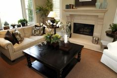 Dark Wood Square Coffee Table - Foter