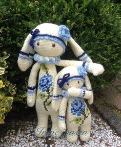 Crochet Bunny Pattern, Crochet Toys Patterns, Cute Crochet, Crochet For Kids, Amigurumi Patterns, Crochet Dolls, Doll Patterns, Knit Crochet, Amigurumi Doll