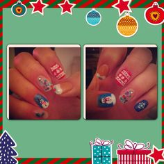 Christmas nails to the MAX