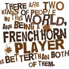 French Horn! This makes me think of Katy Wilson and Chase Ramsey