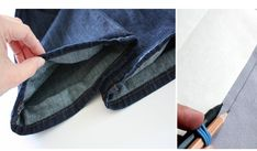 Dica bem bacana para aprender a fazer margem de costura e bainha em seus projetos. Pode-se utilizar essa técnica para graduar moldes, também pode ser ... Flip Flops, Sandals, Men, Fashion, Sewing Stitches, Straight Skirt, Log Projects, French Seam, Art