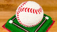 3D Baseball Cake from Cookies Cupcakes and Cardio...check this lady out on youtube, google, and facebook. She is AWESOME with her ideas and directions...