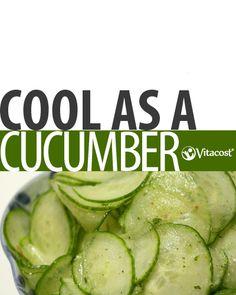 Balsamic Cucumber Salad #Recipe #Vitacost @Matt Valk Chuah Healthy Apple