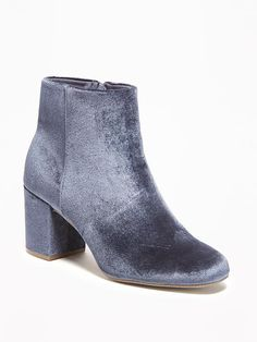 Old Navy Velvet Ankle Boots