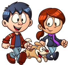 Cartoon couple walking dog Poster Vector clip art illustration with simple gradients Poster Each in a separate layer for easy editing Poster Poster. Best Cartoon Characters, Children's Book Characters, Couple Cartoon, Free Cartoons, Cool Cartoons, Character Creation, Character Design, Dog Poster, Dog Vector