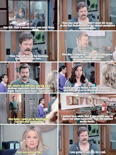 When Ron opened up to Leslie about why they hadn't spoken for years.