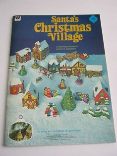 1975 WHITMAN Santa's Christmas Village  - still in use plus the custom yellow cab, and drunk .