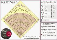 Crochet: SQUARE motive for rug or carpet
