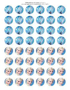 """48-1"""" Digital Bottle Cap Images, Disney Frozen Elsa Inspired, Instant Download on Etsy, $1.50"""