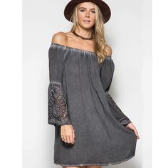 Off the Shoulder Boho Tunic from HandPicked