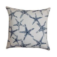 16x16 Starfish Print Beach Theme Decorative by PlumandLitton