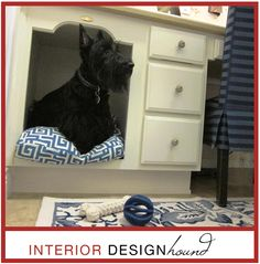 Awesome idea for a Scottie bed!