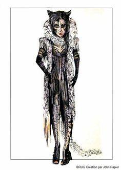 Grizabella costume design - London Palladium, 2014