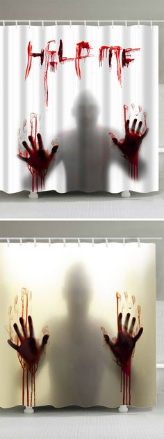 halloween decoration ideas:shower curtains