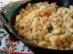 Great food for Autumn dinners: Spaetzle, German pasta. Recipe is from A Feast for the Eyes blog