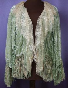 Wings of Lace- She is so creative with making great garments from doilies!