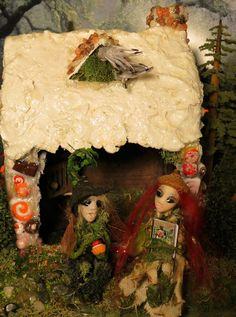 Fairy House Hansel and Gretel Miniature by WoodlandFairyVillage, $69.99