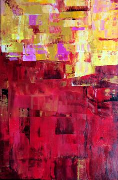 Red And Yellow by Michele Tragakiss Yellow Painting, Acrylic Material, Abstract Styles, Saatchi Art, Original Paintings, Canvas, Artist, Red, Tela