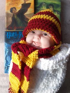 Harry Potter hat and scarf set