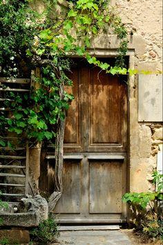 Old Door, St Antoine L'Abbaye, France