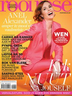 Our Anel Alexander on the latest Rooi Rose cover - feature about her next upcoming film release 'Faan se Trein' Film Releases, Beautiful Cover, Upcoming Films, Digital, Celebrities, Rose, Products, Celebs, Pink