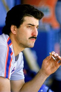 Keith Hernandez of the Mets (and classic Seinfeld episodes). Smoking. In the dugout.