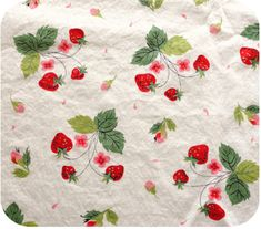 Vintage Strawberry Print Fabric - I knew this would sell right away, and it did.