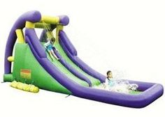 Kids Love it - Double Inflatable Water Slide | Nate's Playground