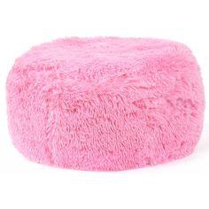 Chlpaté nafukovacie taburetky svetlo ružovej farby