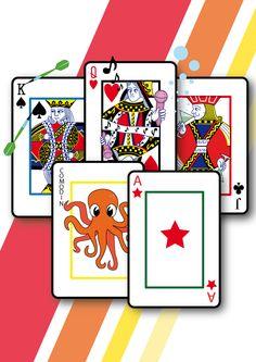 Diseño para la camiseta baraja de cartas