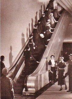 Marshall Field Department Store new escalators, Chicago 1938
