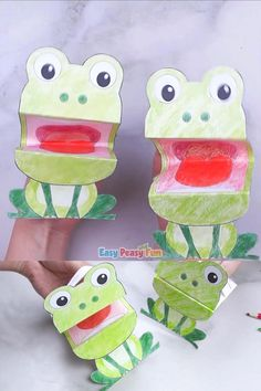 Printable Frog Puppet - paper crafts for kids Spring it a time for frog crafts, so grab this printable frog puppet and jump straight into fun. Paper Crafts For Kids, Christmas Crafts To Make, Craft Activities For Kids, Preschool Crafts, Frog Crafts, Baby Crafts, Toddler Crafts, Frog Puppet, Puppets For Kids