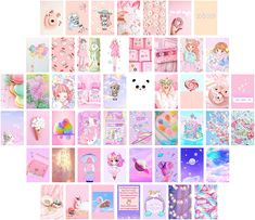 KAWAII WALL DECOR FOR BEDROOM AESTHETIC- This photo wall collage kit includes a set of 50 pictures, 4x6 inch, printed on high-quality Glossy Photo Paper. PREMIUM GLOSSY PHOTO PAPER- Printed on professional-grade Crystal Archive Photographic Paper. Vibrant color and our paper last decades before fading, up to 70 years. #collage #kawaii #anime #animegirl #cute #adorable #pretty #crafts #artsupplies #nice #wallpaper