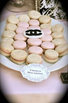 Chanel party macarons