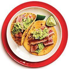 Tuna-Guacamole Tacos | MyRecipes.com #myplate #protein