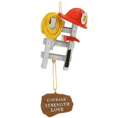 Fireman Tools And Ladder Ornament
