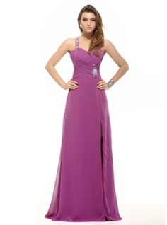 Prom Dresses - $158.99 - A-Line/Princess One-Shoulder Floor-Length Chiffon Prom Dress With Ruffle Beading Split Front  http://www.dressfirst.com/A-Line-Princess-One-Shoulder-Floor-Length-Chiffon-Prom-Dress-With-Ruffle-Beading-Split-Front-018016095-g16095