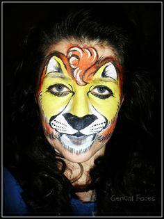 lion cub face painting