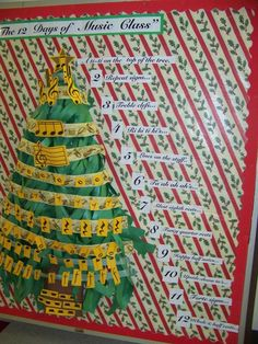 The 12 Days Of Musc Class Holiday Bulletin Board Idea