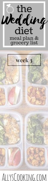 The Wedding Diet Meal Plan: Week 3 via @Ally's Cooking