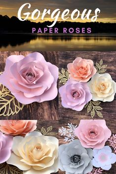 #paperflowers #babyshowerideas #weddingideas #paperflowerbackdrop #wedding #weddingdecorations Paper Flower Wall, Paper Flower Backdrop, Flower Wall Decor, Paper Flowers Diy, Paper Roses, Flower Diy, Unicorn Baby Shower Decorations, Birthday Party Decorations, Flower Nursery
