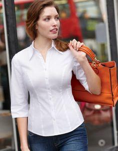 Of busty Down the women shirt