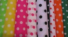 Polka Dot Spot Cotton Fabric Sold by 1/2 MT - Selection of Colors - Half MT