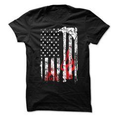 Firefighter Grunge American Flag T-Shirts, Hoodies. Get It Now ==> https://www.sunfrog.com/Political/Firefighter-Grunge-American-Flag-75529951-Guys.html?id=41382